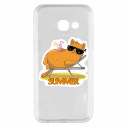 Чохол для Samsung A3 2017 Котик на пляжі