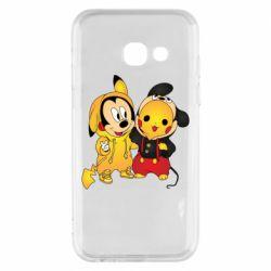 Чехол для Samsung A3 2017 Mickey and Pikachu