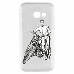 Чехол для Samsung A3 2017 Mickey Rourke and the motorcycle