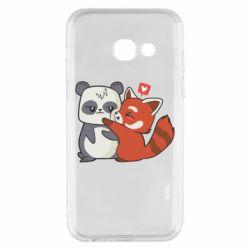 Чохол для Samsung A3 2017 Panda and fire panda