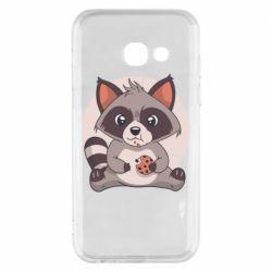 Чохол для Samsung A3 2017 Raccoon with cookies
