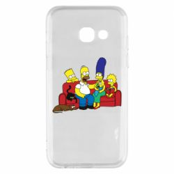 Чехол для Samsung A3 2017 Simpsons At Home