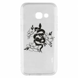 Чохол для Samsung A3 2017 Snake with flowers