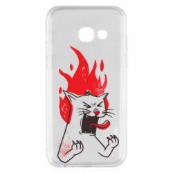 Чохол для Samsung A3 2017 The cat is mad