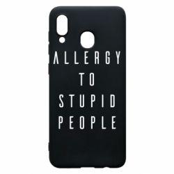 Чохол для Samsung A30 Allergy To Stupid People