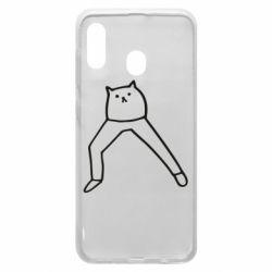 Чохол для Samsung A30 Cat in pants
