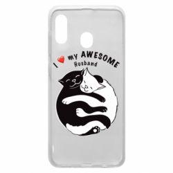 Чехол для Samsung A30 Cats and love