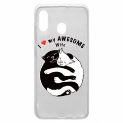 Чехол для Samsung A30 Cats with a smile