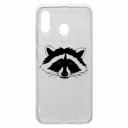 Чохол для Samsung A30 Cute raccoon face