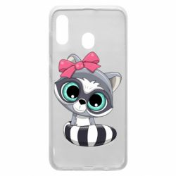 Чехол для Samsung A30 Cute raccoon