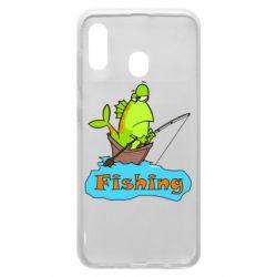 Чехол для Samsung A30 Fish Fishing