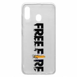 Чехол для Samsung A30 Free Fire spray