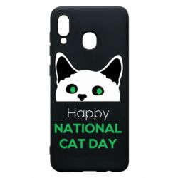 Чехол для Samsung A30 Happy National Cat Day