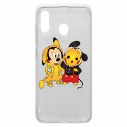 Чехол для Samsung A30 Mickey and Pikachu