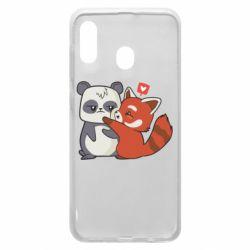 Чохол для Samsung A30 Panda and fire panda