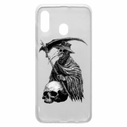 Чехол для Samsung A30 Plague Doctor graphic arts