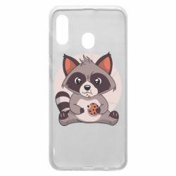 Чохол для Samsung A30 Raccoon with cookies
