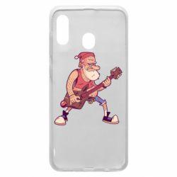 Чохол для Samsung A30 Rock'n'roll Santa