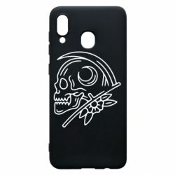 Чохол для Samsung A30 Skull with scythe