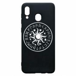 Чохол для Samsung A30 Sun in runes