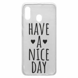 "Чохол для Samsung A30 Text: ""Have a nice day"""