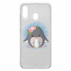 Чехол для Samsung A30 Two cute penguins