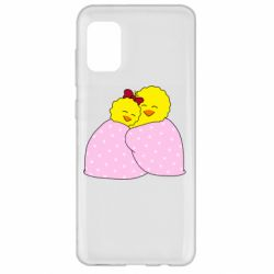 Чехол для Samsung A31 A pair of chickens and a blanket