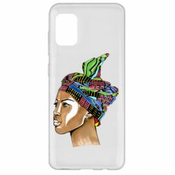 Чохол для Samsung A31 African girl in a color scarf