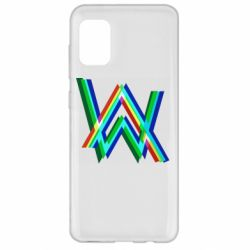 Чехол для Samsung A31 Alan Walker multicolored logo