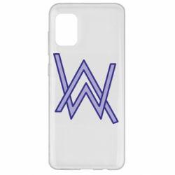 Чехол для Samsung A31 Alan Walker neon logo