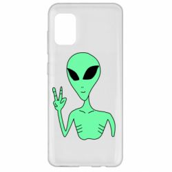 Чехол для Samsung A31 Alien and two fingers