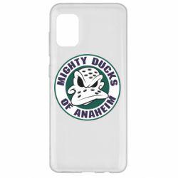 Чехол для Samsung A31 Anaheim Mighty Ducks Logo