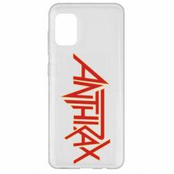Чохол для Samsung A31 Anthrax red logo