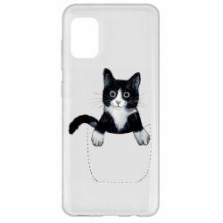 Чехол для Samsung A31 Art cat in your pocket