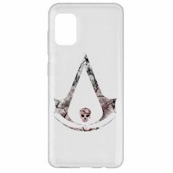 Чехол для Samsung A31 Assassins Creed and skull