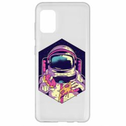 Чехол для Samsung A31 Astronaut with donut and pizza