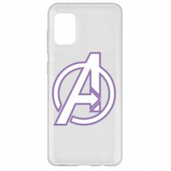 Чехол для Samsung A31 Avengers and simple logo