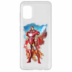 Чохол для Samsung A31 Avengers iron man drawing