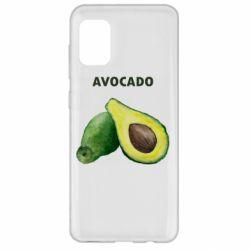 Чехол для Samsung A31 Avocado watercolor