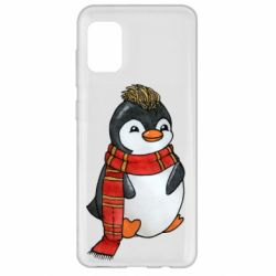 Чохол для Samsung A31 Baby penguin with a scarf