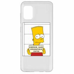 Чехол для Samsung A31 Барт в тюряге