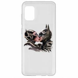Чехол для Samsung A31 Batman and Catwoman Kiss