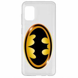Чохол для Samsung A31 Batman logo Gold