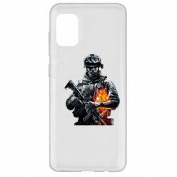 Чехол для Samsung A31 Battlefield Warrior