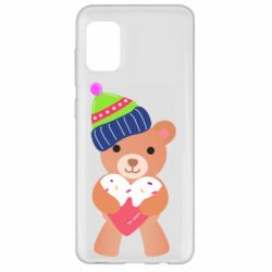 Чехол для Samsung A31 Bear and gingerbread