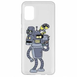 Чехол для Samsung A31 Bender and the heads of robots