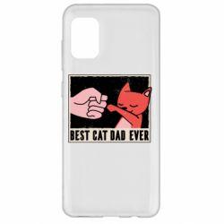 Чехол для Samsung A31 Best cat dad ever