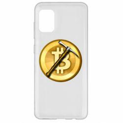 Чохол для Samsung A31 Bitcoin Hammer
