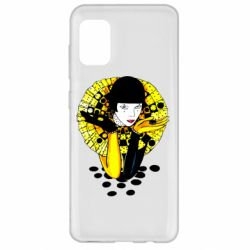 Чехол для Samsung A31 Black and yellow clown