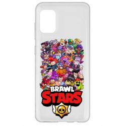 Чехол для Samsung A31 Brawl Stars all characters art